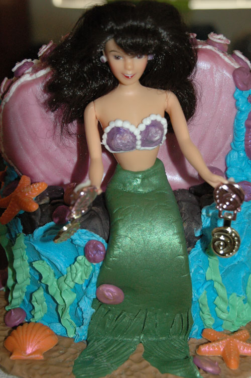 Brunette Mermaid Cake