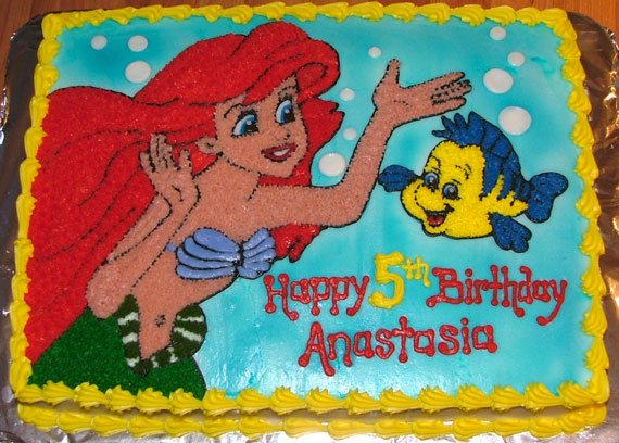 Little Mermaid Sheet Cake