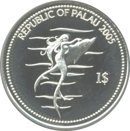 Mermaid and Dolphin Coin
