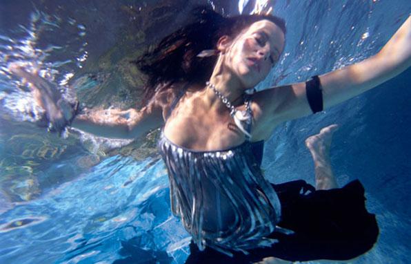 Mermaid Floating in Waves - Mermaid ModelModel Floating In Water