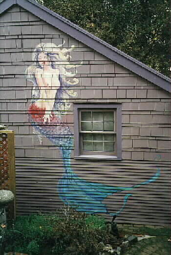 Mermaid on a House