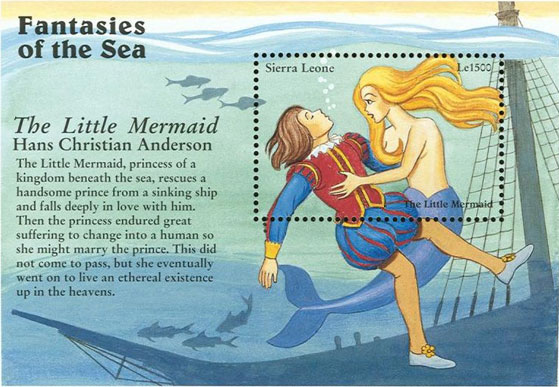 Mermaid Stamp of Sierra Leone
