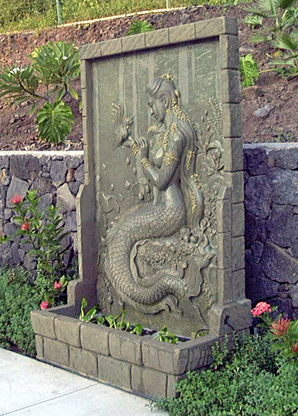 Chinese mermaid on wall