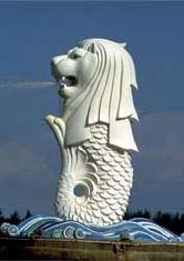 Singapore merlion mermaid statues mermaid statues from for Merlion tattoo images