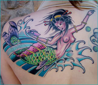 Asian Geisha Mermaid